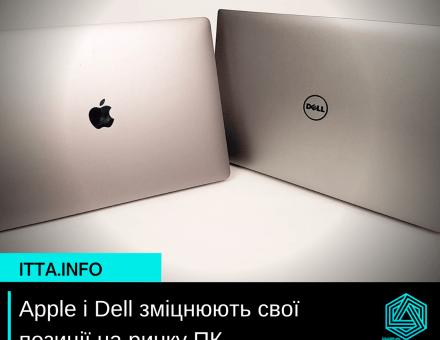 Apple і Dell зміцнюють свої позиції на ринку ПК