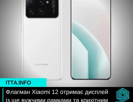 Флагман Xiaomi 12 отримає дисплей із ще вужчими рамками та крихітним отвором для камери